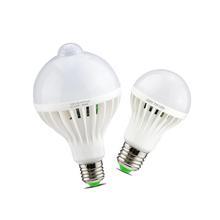 Buy E27 220V LED PIR Motion Sensor Lamp 3W 5W 7W 9W 12W Led Bulb Sound + Light Sensor Auto Smart Infrared Body Motion Sensor Light for $1.35 in AliExpress store