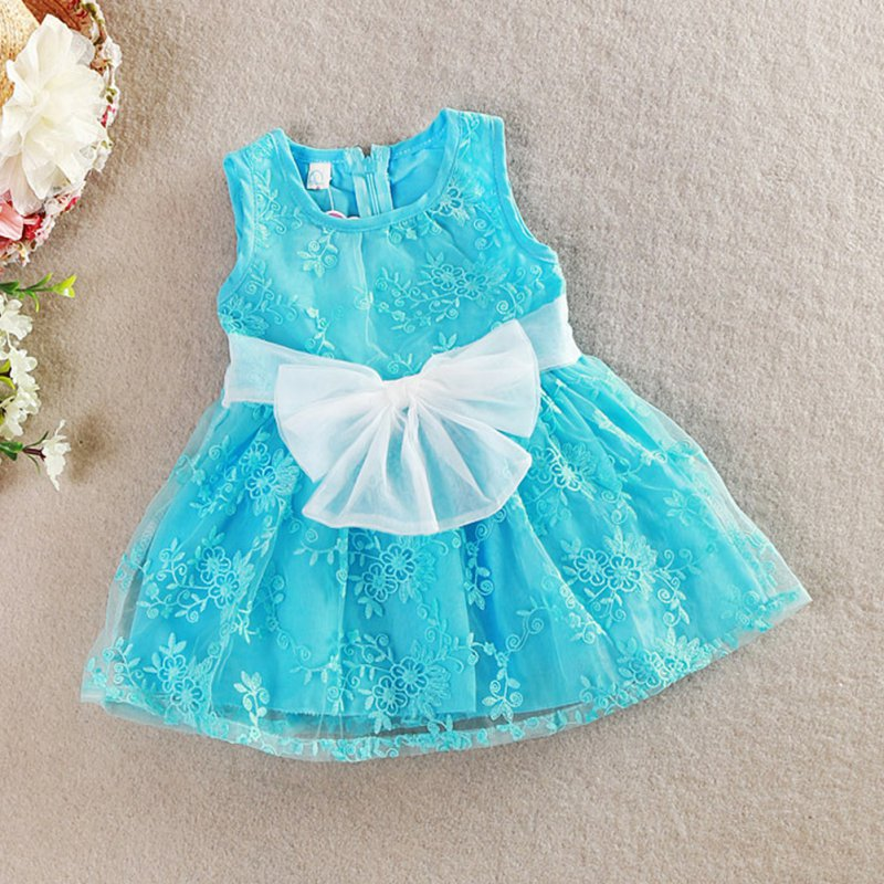 2015 Summer Kids Girls Tutu One Piece Sleeveless Big Bowknot Party Floral Dress Free Shipping<br><br>Aliexpress