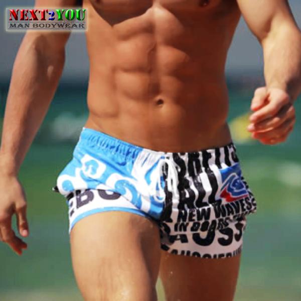 Free Shipping NEW BRAND Men s Swimwear Men s Swimming Trunk Boxer Leisure Swim Beachwear High