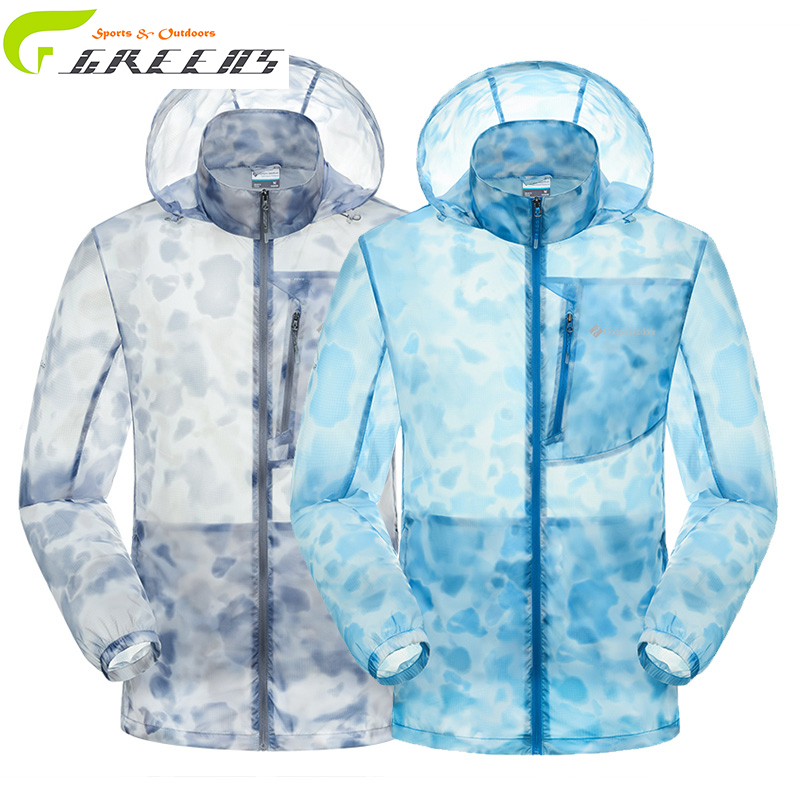 Lightweight Jacket Cycling Hiking Windbreaker wind jacket for men/ softshell jacket men/ chaqueta outdoor jacket blue and grey(China (Mainland))