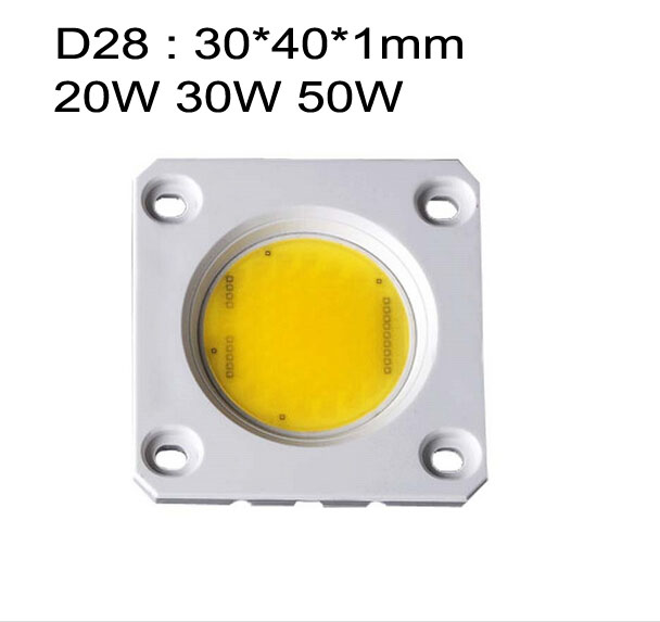200x D28 20W 30W 50W 110V 220V dimmable AC COB LED module driverless warm/cool white Ceramic substrate board lamp bulb(China (Mainland))