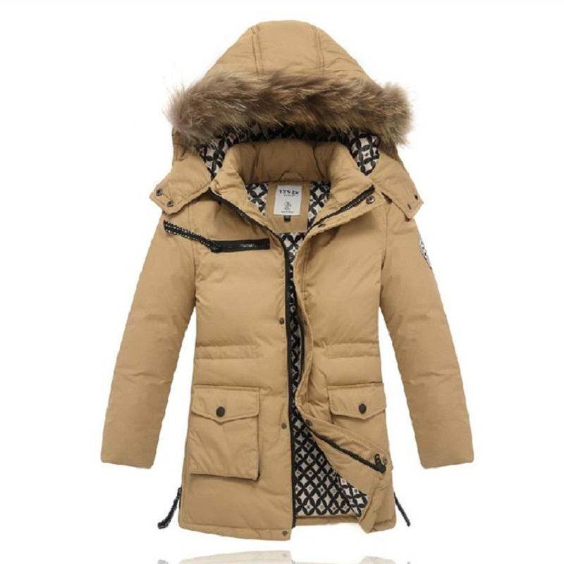 Boy Down Coats &amp; Jackets Thick Warm Winter Hooded Parkas For Children Casual White Duck Down Coat 2015 New Winter Outerwear<br><br>Aliexpress