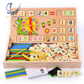 Multi functional Mathematics Counting Number Study Box Baby Children Educational Wooden Toys Birthday Gift Childhood Adulthood
