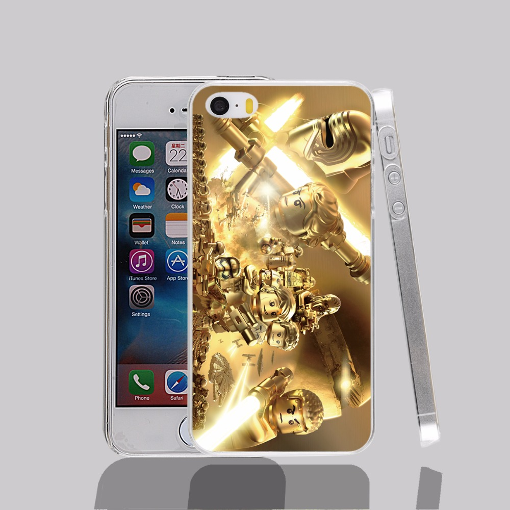 14729 Lego Star Wars GOLD transparent Cover cell phone Case for iPhone 4 4S 5 5S 5C 6 6S Plus 6SPlus(China (Mainland))