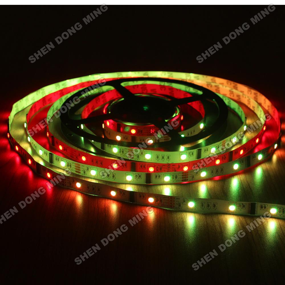 Lowest price Digital LED Strip 6803 LPD changeable dream color Led Pixel Strip 5m RGB 10IC 30Leds Waterproof IP22 Full Colors(China (Mainland))
