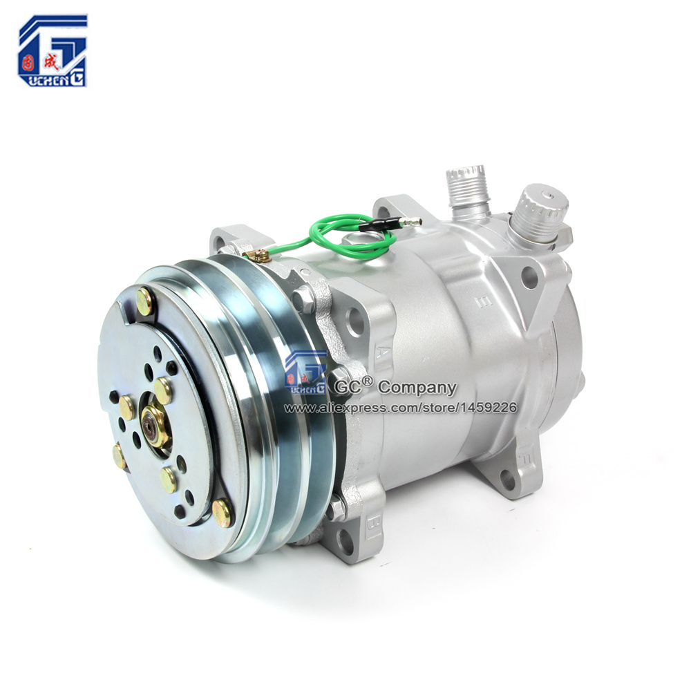 A/C AC Air Conditioning Compressor 508 5H14 12V / 24V 2A V Belt Pulley Tractor Excavator Heavy Duty Truck Pickup Universal(China (Mainland))