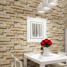 Luxury Stone Brick wall 10M Vinyl Wallpaper Roll papel de parede 3D Living Room Background Wall Decor Art Wall Paper R306(China (Mainland))