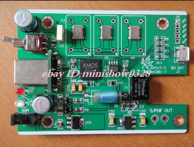 1pcs NEWEST XMOS U8 USB to I2S IIS DSD SPDIF coax output ASIO 384K digital interface free shipping new(China (Mainland))
