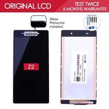 Испытано Оригинальный Бренд Черный TFT 1920x1080 Дисплей Для Sony Xperia Z2 ЖК L50W D6503 Дисплей С Сенсорным Экраном Дигитайзер Ассамблеи(China (Mainland))