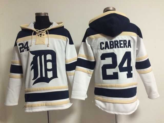 New Miguel Cabrera Jersey #24 Detroit Tigers Baseball Hoodies 2015 New Sweatshirts Embroidery stitched Winter Hoody Top