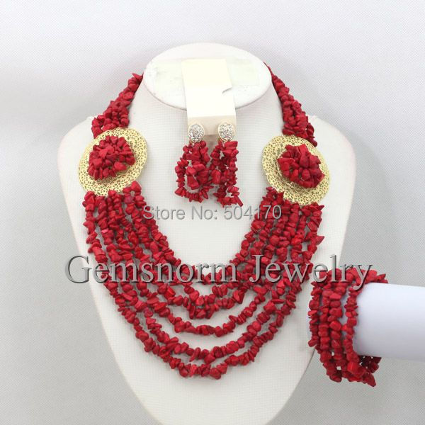 Amazing Indian Bridal Jewelry Set African Beads Necklace Bracelet Earrings Set Wedding Christmas Jewelry Set Free Shipping GS758(China (Mainland))