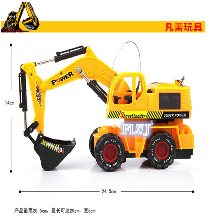 Remote control vehicle wireless remote control toy car electric excavator excavator simulation model toy(China (Mainland))