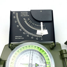 New outdoor survival hiking campingequipment Professional Military Army Metal Sighting Compass Inclinometer Green