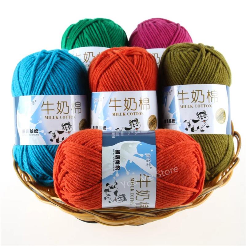 Knitting Items For Sale : Aliexpress buy strands milk cotton knitting yarn