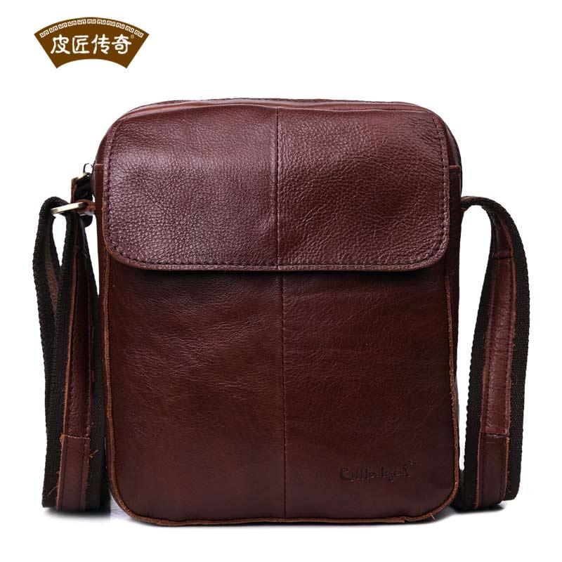 Men Gender Brown Cow Leather Messenger Bag Adjustable Satchel Shoulder Bag 11091<br><br>Aliexpress