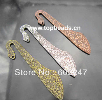 Free Shipping, New Metal Alloy Bookmarks, Tibetan Silver Jewelry Findings, 30pcs/lot