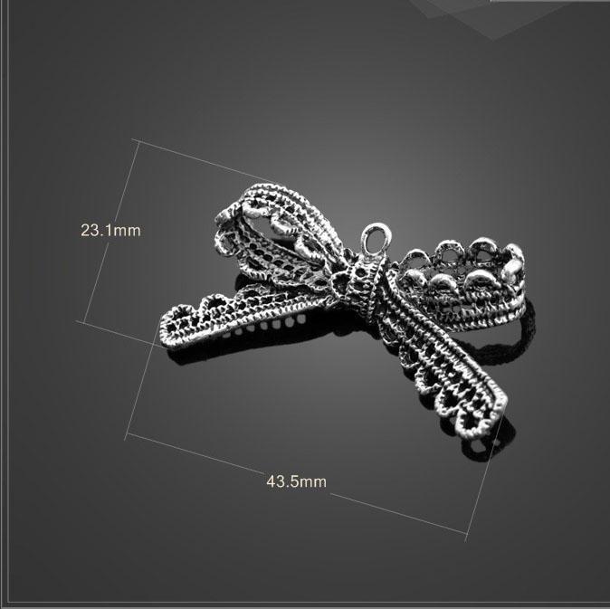 Preço de fábrica 20 Pçs/lote 43.5mm * 23.1mm de prata antigo do metal pequeno arco artesanal diy encantos(China (Mainland))