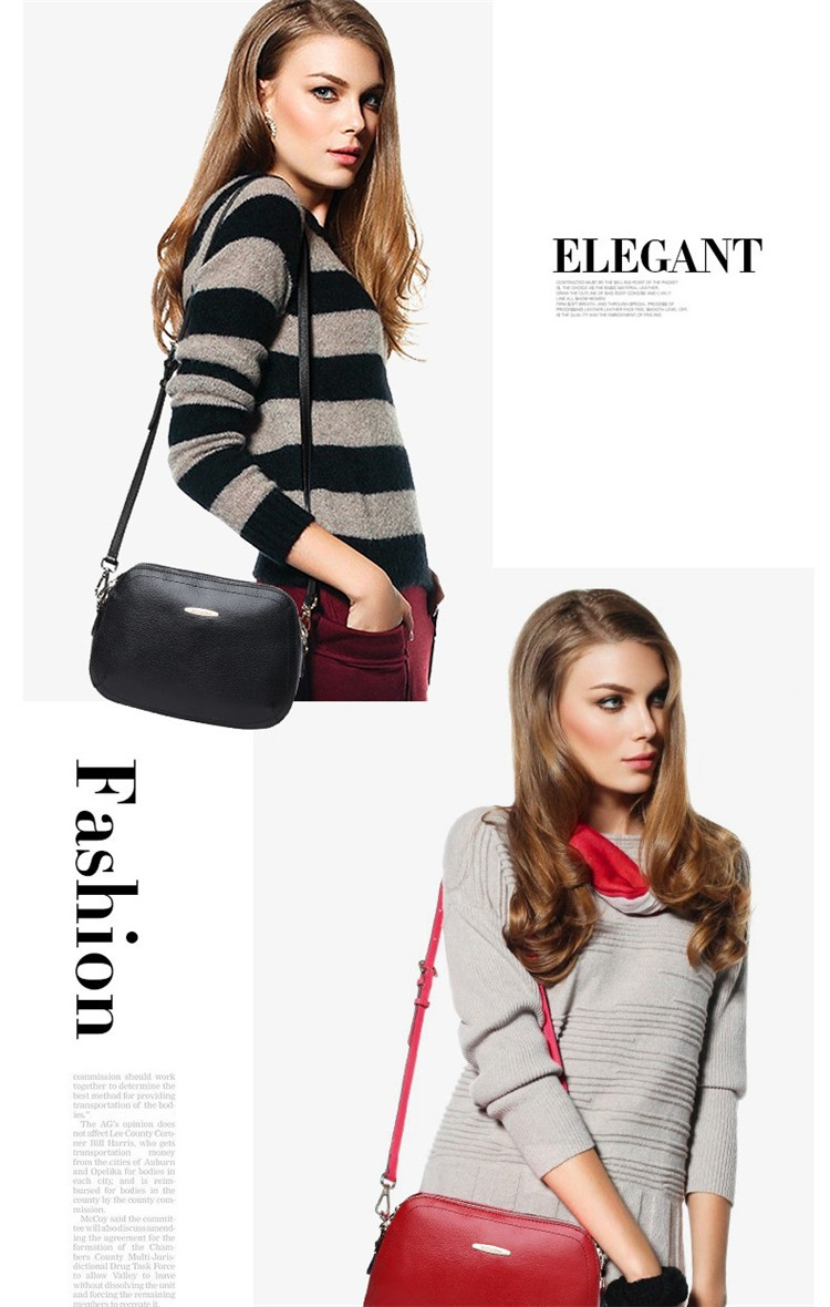 New 2015 Fashion Women Genuine Leather Messenger Bag Shoulder Bags Crossbody  Bolsos Carteras Mujer Marca Handbags Famous Brands05
