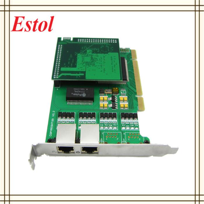 2 Ports Digital E1/T1/J1 Telephony Voice Card,Asterisk Card with Hardware Echo Cancellation PCI 2.2 interface ISDN PRI(China (Mainland))