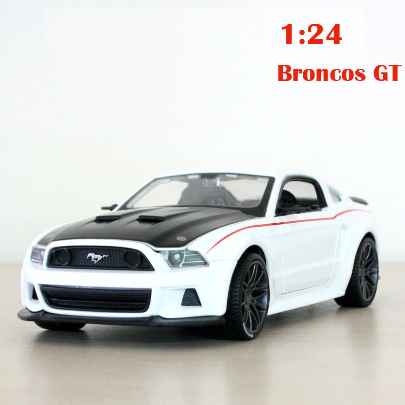 Alloy car 1:24 simulation models Mustang GT Metal model cars Children's toy collection models Children toy kids gift(China (Mainland))
