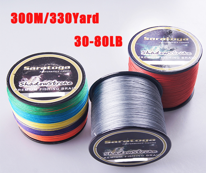 Buy saratoga 8 strands 100 pe braided for 30 lb braided fishing line