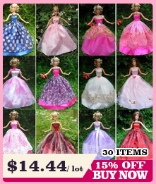 Not Include the Doll ! Ucanaan 1 PC Inexperienced Wedding ceremony Gown For Barbie Doll Restricted Assortment Elegant Handmade Gown Garments Presents
