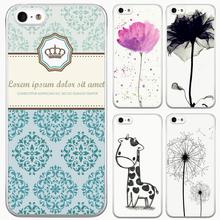 Симпатичные мультяшном стиле цветочные стиль чехол для iPhone 5 5S