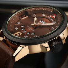 Mens Watches Top Brand Luxury NAVIFORCE Sports Watch Men Military Leather Quartz-watch Waterproof Male Clock Relogio Masculino(China (Mainland))