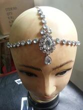 Handmade Kundan stones hair chain head chain wedding bridal head Jewelry(China (Mainland))