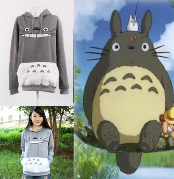 Raisevern hot 3D thick sweatshirt harajuku cartoon totoro animal print Women Sport Suit Hoodie Spring/Autumn Outside clothes(China (Mainland))