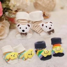 2015 new Children Animal Socks Baby Outdoor Shoes Infant Anti-slip Walking Children Warm Sock kids Gift 3piece=1lotZMXYCC05(China (Mainland))
