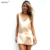 2016 New Fashion Sexy V Neck Satin Slip Summer Dress Sleeveless  Mini Halter Evening Bodycon Club Wear Female Party Dresses