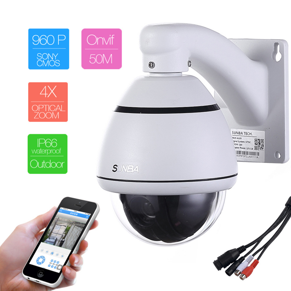 502S-4X two way audio Zoom Outdoor Mini 1.3MP HD 960P IP Network PTZ CCTV Speed Dome P2P Onvif Security Camera Aluminum Houseing(China (Mainland))