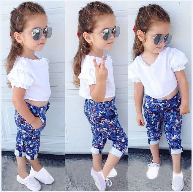 2015 muchachas que arropan verano nueva ropa Casual Set niños ...