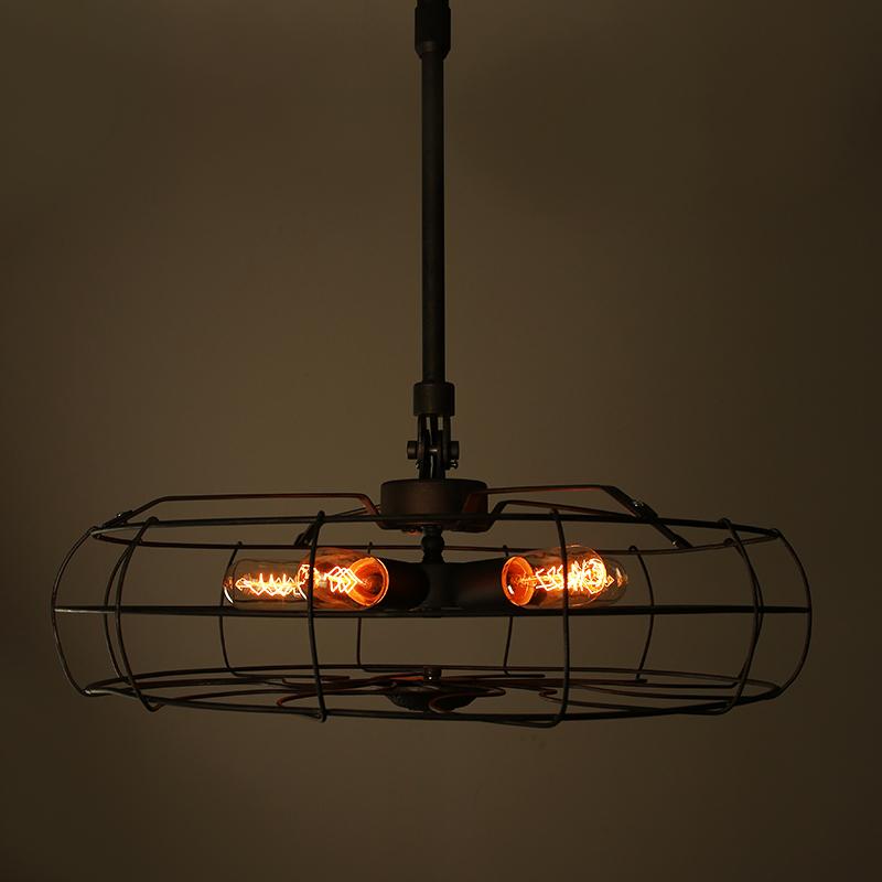 Industrial Vintage Pendant Lamp Creative Retro Edison bulb Hanging Light Loft Wrought Iron Lighting Fixture Free shipping(China (Mainland))