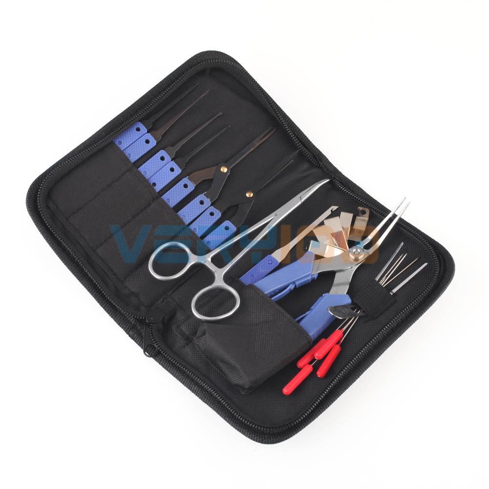 19Pcs Lock Broken Extractor Remove Key Removal Hooks Needle Locksmith Tool Kit(China (Mainland))