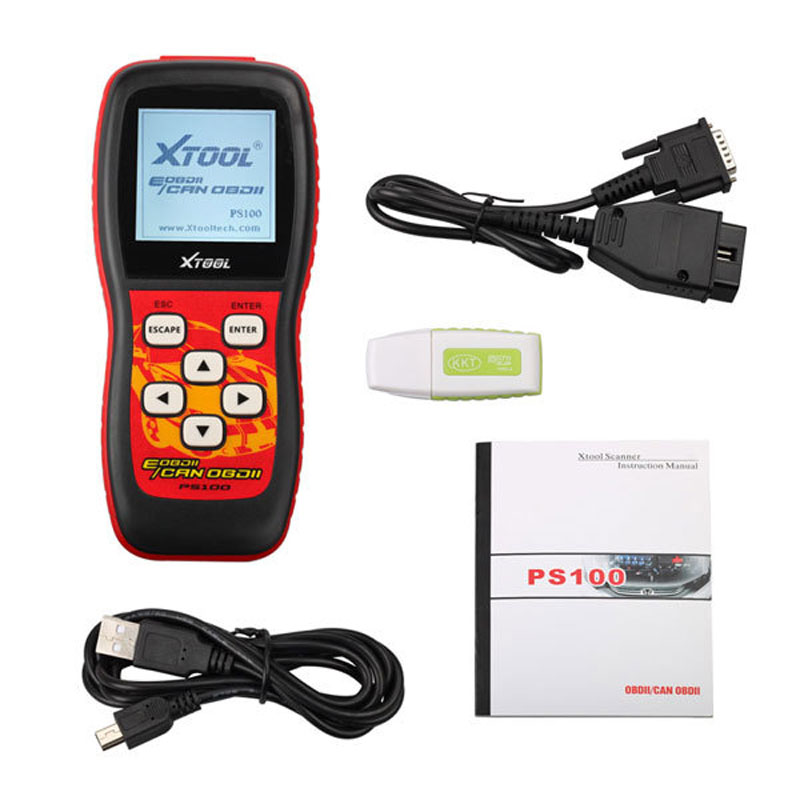 Фотография Portable Car OBD2 Scanner tools CAN PS100 ODBII Code Reader obd2 Auto Diagnostic tool Scan tool Xtool PS100 Free Shipping