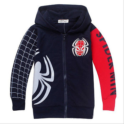 baby Kids boys hoodies autumn long sleeve Spiderman Sweatshirt Clothes boy Hoodies Jacket Outwear(China (Mainland))