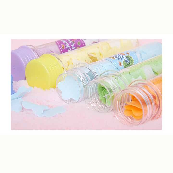 Paper Soap Washing Cleaning Hands Bath Paper Tube Soap Slice Portable Toilet Flower Soap Whitening Soap Random Color Drug Bacter(China (Mainland))