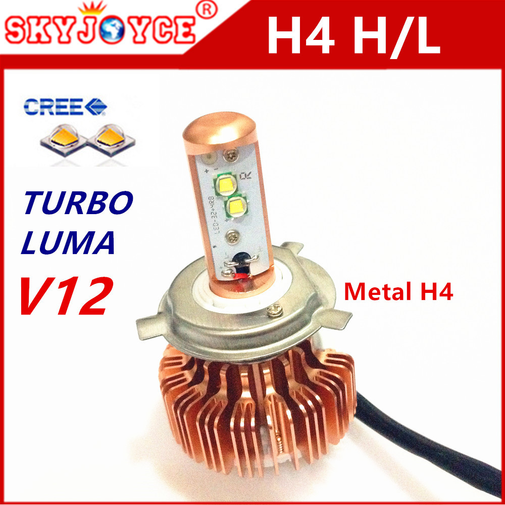 1 set CREE LED H4 H4-3 HB2 9003 xenon white h4 led headlight adapter car styling led Toyota for cnlight hid replacement H7 led(China (Mainland))