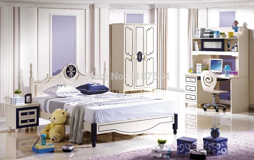 6620 wooden furniture set colorful bedroom furniture set bed wardrobe