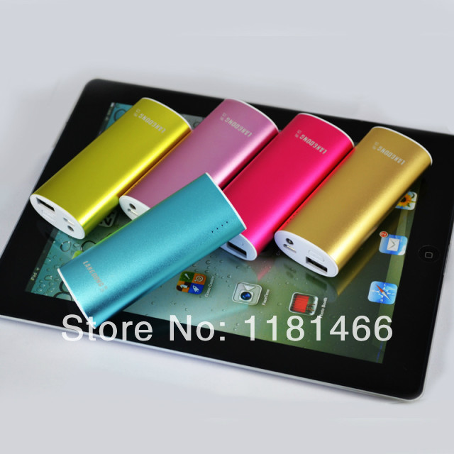 2 USB ouput Fashion Design portable power bank four color charger for phone ,computer free shipping(China (Mainland))