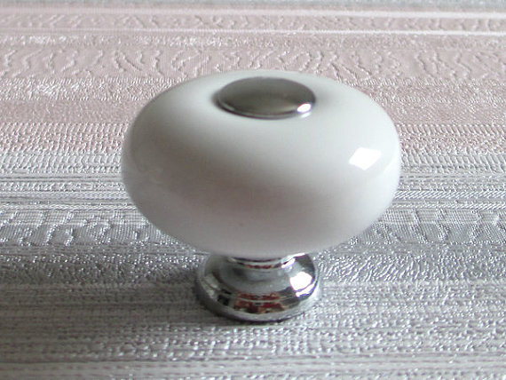 White Knobs Dresser Knob Silver Ceramic Kitchen Cabinet Knobs Drawer Knobs Pulls Handles Door Knob Pull Handle Retro Hardware<br><br>Aliexpress