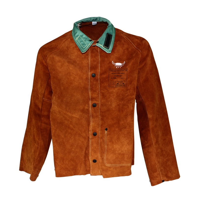 Leather Welding Aprons Cow Split Leather Welding Jackets(China (Mainland))