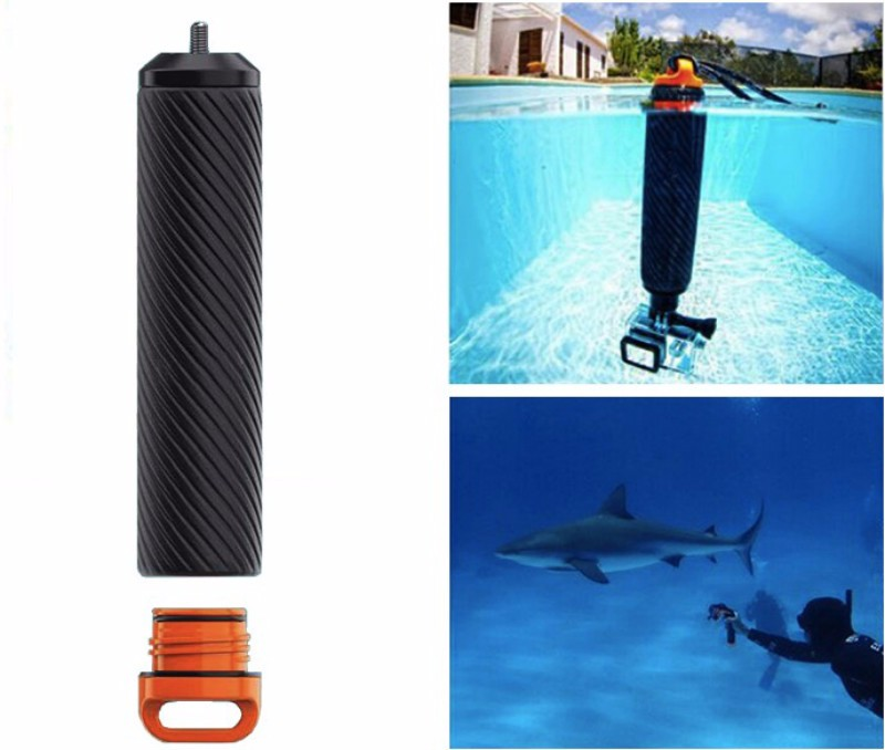 Gopro Accessories 2 in 1 Shutter Trigger Floating Grip Handle Buoyancy Stick For Gopro Hero 4 3+ Xiaomi Yi Self-stick Diving