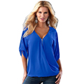 Casual Women Summer Sexy V Neck Solid Long Sleeve Shirt Top Blouse costumi donna remeras mujer