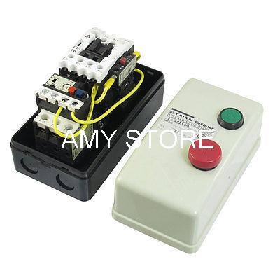 On Off Switch Enclosed 3 Pole Motor Magnetic Starter 380V Coil 12.5-18A<br><br>Aliexpress