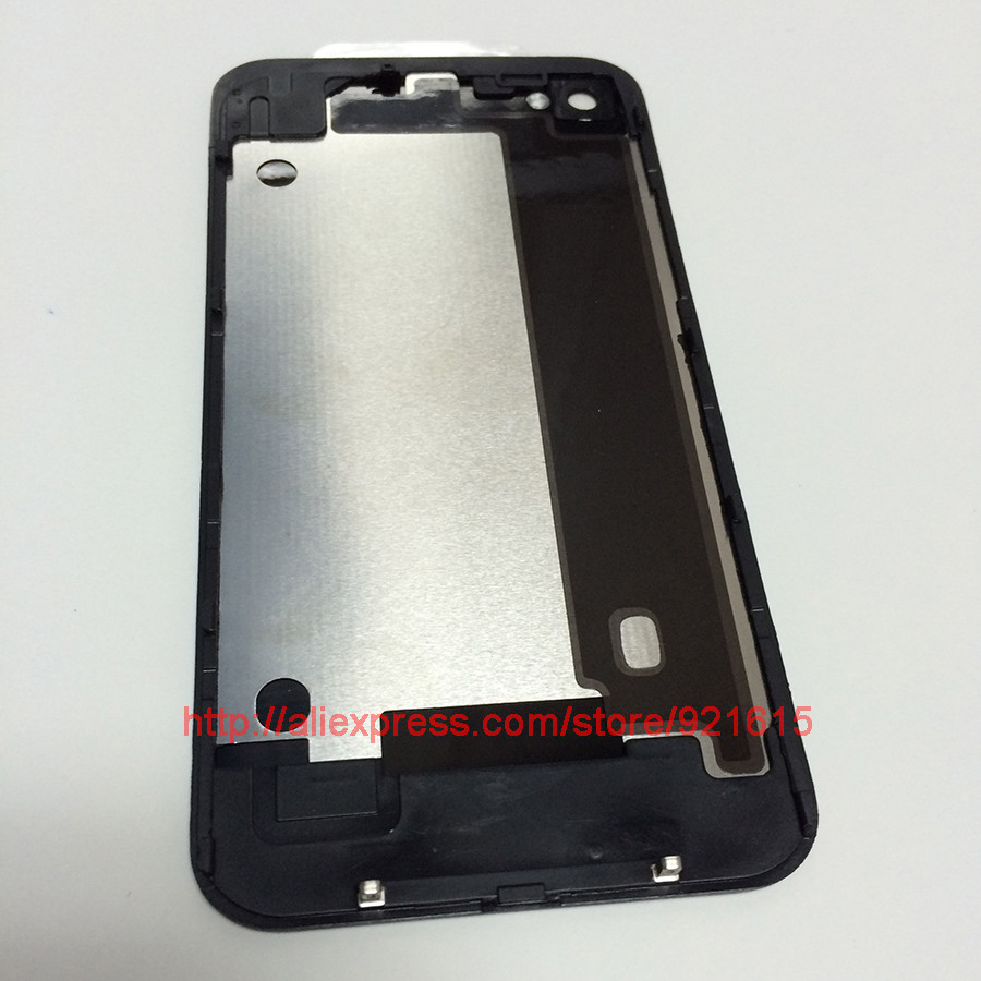10Pcs High Quality Black White Battery Door Back Glass Cover Housing Replacement Parts for iPhone 4 4G 4S