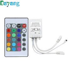 24 keys IR remote controller and IR receiver for 3528 5050 RGB led strip light, LED Controller have two connectors(China (Mainland))