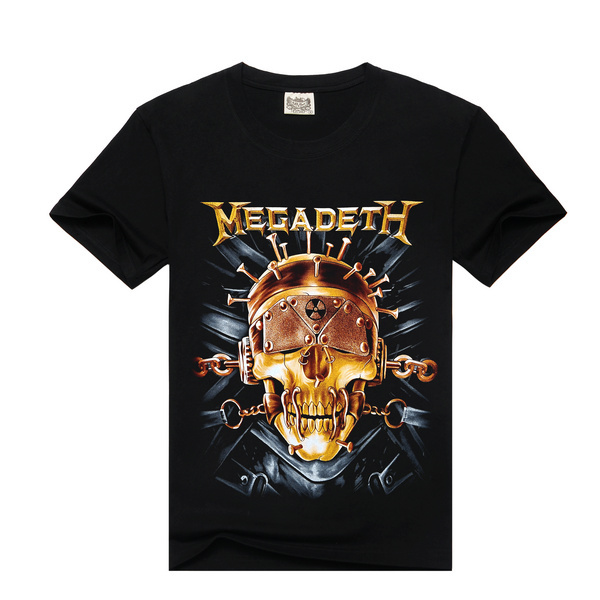 Free shipping heave metal 2015 new Rock design short sleeve black color wholesale metallica design t shirt heave metal(China (Mainland))